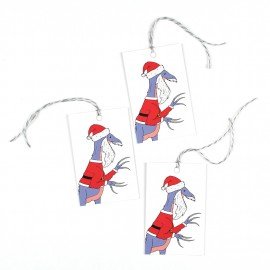 Santa Claws Christmas gift tags