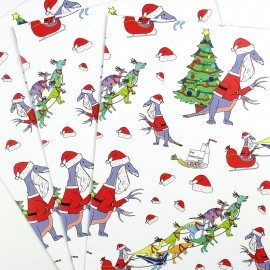 Santa Claws wrapping paper