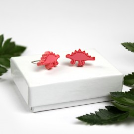 Stegosaurus stud earrings