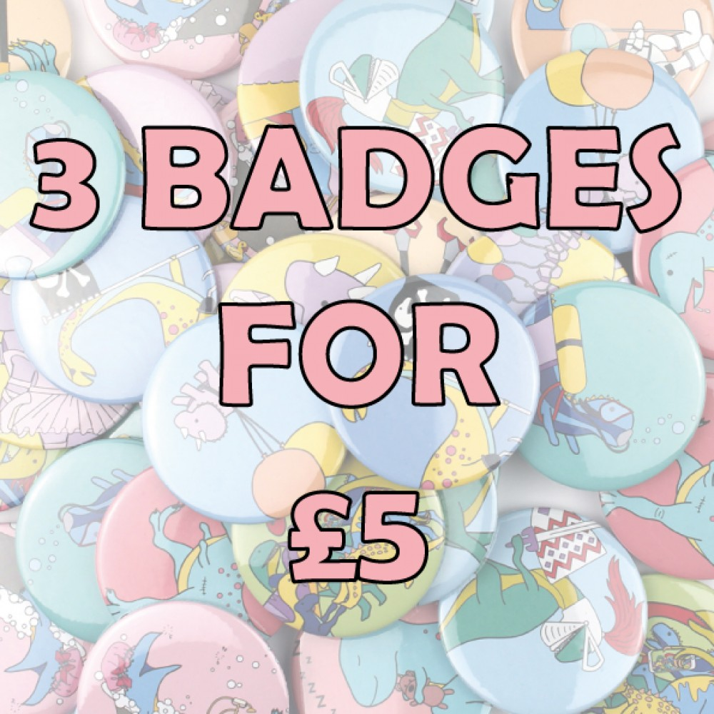 3 for £5 badges