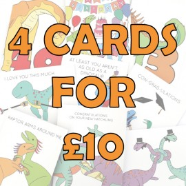 4 for £10 Greeting Cards