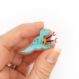 T-Rex grabby arms pin