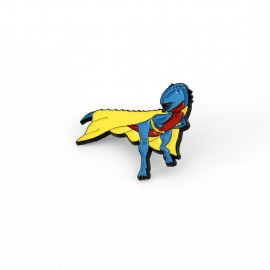 SECOND - Superhero Dinosaur Enamel Pin