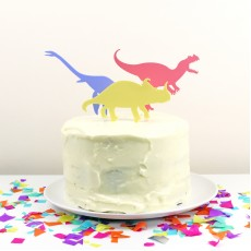 Dinosaur Cake Topper Ornament - Set of 3
