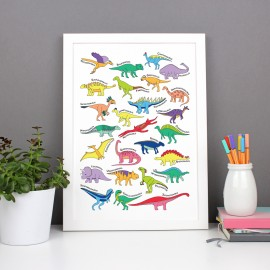 Dinosaur Alphabet Poster Print - various sizes - A4, A3