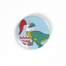 Knight Dinosaur Badge/Magnet/Keyring/Mirror