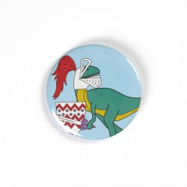 Knight Dinosaur Badge
