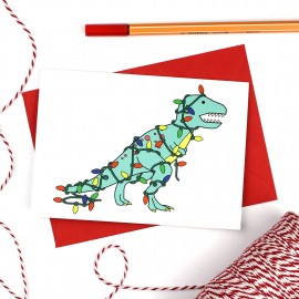 Tree-Rex - Dinosaurs Christmas Greeting Card