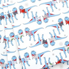 Dinosaur Christmas Jumper Wrapping Paper