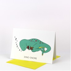 Dino-Snore Greeting Card