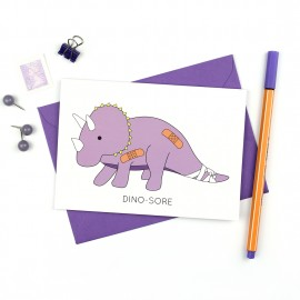 Dino-Sore Greeting Card