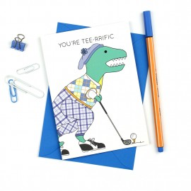 You're Tee-Rrific Dinosaur Greeting Card