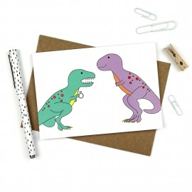 Dinosaur Engagement Card