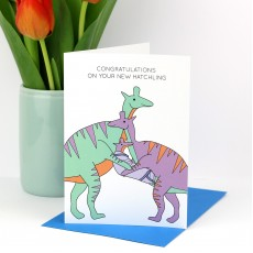 Congratulations on Your New Hatchling Greeting Card - More colours available