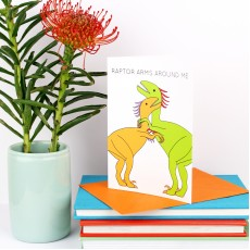 Raptor Arms Around Me Greeting Card