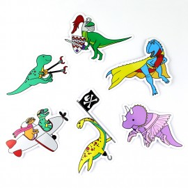 Dinosaur Sticker Pack of 6