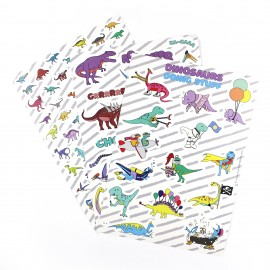 Dinosaur sounds sticker sheet - A5