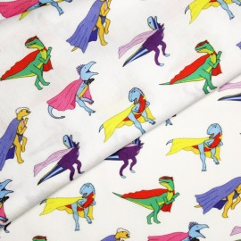 Superhero Dinosaur Fabric - Fat Quarter