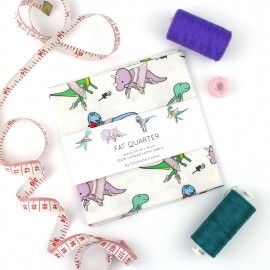Ballet Dinosaur Fabric - Fat Quarter