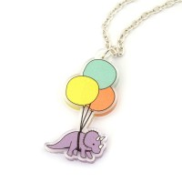 Triceratops Balloon Necklace
