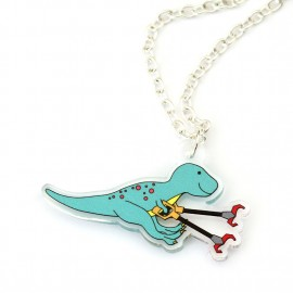 Grabby Arms Dinosaur Necklace