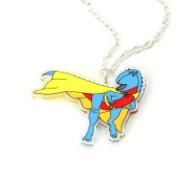 Superhero Dinosaur Necklace