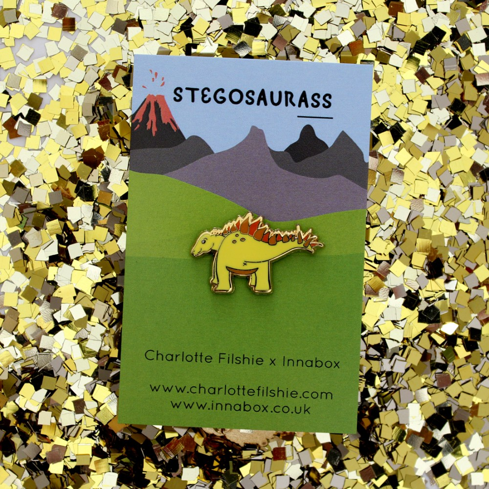 SECONDS - Stegosaurus Enamel Pin
